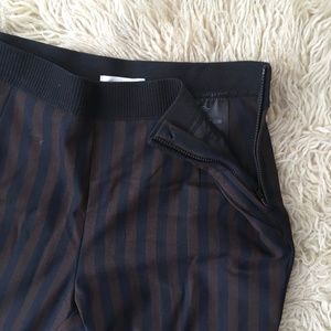 H&M slacks blue & brown stripes size 4